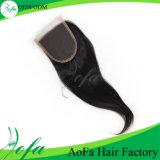 Remy cutícula intacta Mink humano del pelo del cordón de cierre