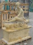 Высеканная античная мраморный скульптура высекая каменную статую для украшения сада (SY-X1165)