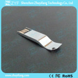 2016 New Unique Design Silver Bright Metal USB Stick (ZYF1737)