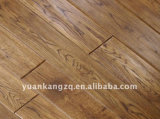北京の製造者の薄い色はカシの寄木細工の床によって設計された堅材のフロアーリングにブラシをかけた