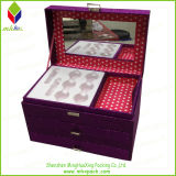 Griff-Entwurfs-kosmetischer Speicher-verpackenkasten mit Spiegel