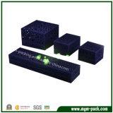 Boîte de bijoux en plastique faite sur commande de velours de vente chaude