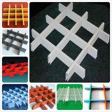 Dekorative Decken-Aluminiumrasterfeld-Decke mit weißer und schwarzer Farbe