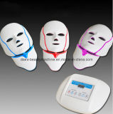 자유로운 출하 3 색깔 PDT 광양자 LED LED 얼굴 목 가면 노화 방지 아름다움 가면을%s 지능적인 시스템 LED 가벼운 치료 가면