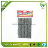 Rilievi di sapone inossidabili di prezzi bassi della cucina impianto di lavaggio, lana d'acciaio