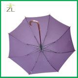 Stampa su ordinazione di marchio dell'attrezzo superiore promozionale della pioggia che fa pubblicità all'ombrello con la maniglia di legno