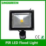 방수 PIR LED 플러드 빛 20W
