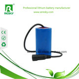 18650 батарея Li-иона 4000mAh 12V для Headlamp рыболовства