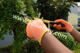 Перчатки работы полиэфира с цветастым покрытием латекса пены (LR3018F)