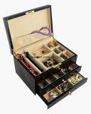 Коробка подарка хранения ювелирных изделий отделки рояля деревянная