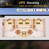 Bungalow prefabbricato vivente della Camera della famiglia con il piano di sviluppo e la foto 3D