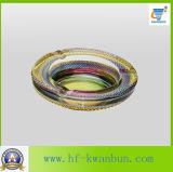 Runde Farben-Funktionseigenschaft-Glasaschenbecher