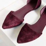 女性の流行の伸縮性がある偶然の平らなバレリーナの靴