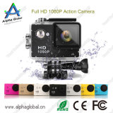 Preiswertestes A8 2 Sport-Vorgangs-Kamera des Zoll-Bildschirm-HD 1080P mit dem 120 Grad-Objektiv