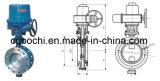 Válvula de borboleta elétrica do selo do metal do aço inoxidável