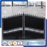 Puerta residencial moderna elegante del hierro labrado de la seguridad (dhgate-27)