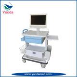 Carro móvil del monitor paciente de la pista