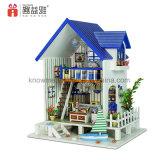 3D 가구를 가진 모형 수수께끼 DIY 집 나무로 되는 장난감