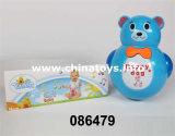 Cadeau électrique d'ours de jouets de jouet de culbuteur en plastique électrique de report (3140188)