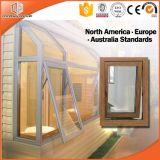 hölzernes Korn-Außenseite-Schwingen Aluminiumprofil-Fenster des Zebra-3D, Markisen-Fenster und Fenster-Deutschland-Befestigungsteile