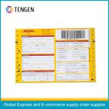 Kohlenstofffreies Papier-logistischer Frachtbrief mit verschiedenem Farben-Drucken