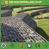Muro de contención soldado roca galvanizado Caliente-Sumergido de Gabion de la jaula de la piedra del alambre