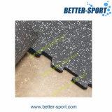 Tapis de gymnastique en caoutchouc, carreau de caoutchouc entrelacé, carreau en caoutchouc