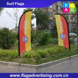 Изготовленный на заказ напольное знамя пляжа пера полиэфира с стеклотканью Поляк