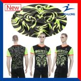 T-shirt cheio dos adolescentes do Sublimation da forma de Healong Sportwear
