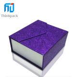Papel de alta calidad de color violeta cajas de collar
