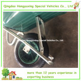 Wheelbarrow plástico colorido do jardim com tipo separado frame galvanizado