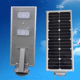 太陽街灯5年の保証20Wの高い内腔LEDの庭の
