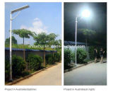 2016 luz de rua solar Integrated solar quente toda do sensor de movimento da luz de rua do diodo emissor de luz da venda 5W-100W em uma (Shinehui)