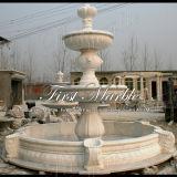 Bella fontana bianca di Carrara per la decorazione domestica Mf-238
