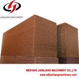 Garniture de refroidissement industrielle évaporative pour la serre chaude/usine/ferme de poulet