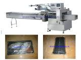 Envoltório horizontal automático do bloco do fluxo da máquina de embalagem do fluxo