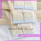 インドの人間の二重味方されたテープ毛の拡張
