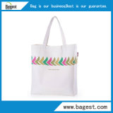 Sacchetto di Tote naturale della tela di canapa del sacchetto di acquisto del cotone di 100%