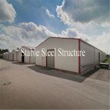 Edifício pré-fabricado do metal da estrutura do metal com baixo custo