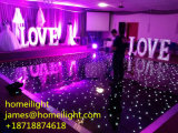 Suelo iluminado mezclado blanco negro del color LED para la etapa de la boda