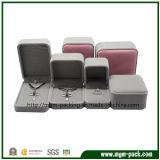 Коробка ювелирных изделий бархата горячего сбывания изготовленный на заказ пластичная