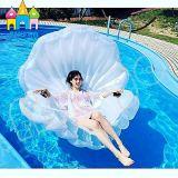 膨脹可能なフラミンゴのシェルの帆立貝の真珠の浮遊水泳のプールのおもちゃ