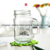 450ml Clear Glass Bottle met Handle voor Food en Drink
