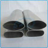 Câmaras de ar ovais elípticas do aço inoxidável para o Guardrail do balcão