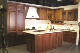 Изготовленный на заказ классицистические деревянные конструкции кухни для украшения кухни