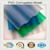 Feuille ondulée de PVC de toiture en plastique