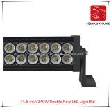 41.5 인치 240W 도로 빛과 LED 모는 빛 떨어져 SUV 차 LED를 위해 방수 두 배 줄 LED 표시등 막대의 LED 차 빛