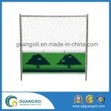 Green Powder Coating Temporary Mesh Fence no estilo japonês