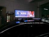 La tapa LED Vesions del taxi P5 firma los primeros del coche que hacen publicidad de la visualización de LED