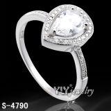 Anel de pedra de prata da mulher da CZ da forma 925 (S-4787/88/90/93/94/95)